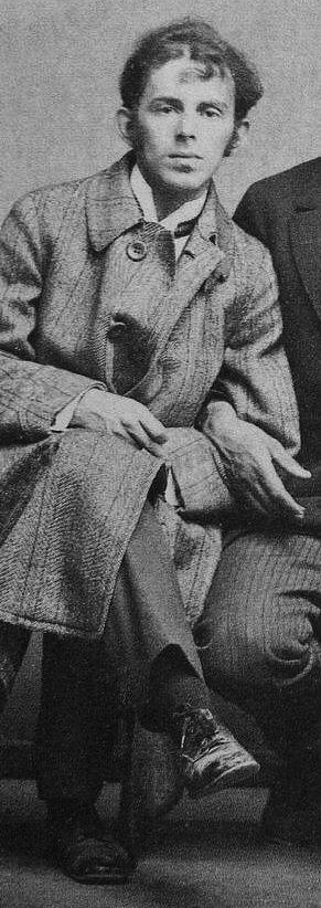 Osip Mandelstam, Russian writer, 1914. Deatil. Photo by Karl Bulla. Public Domain.