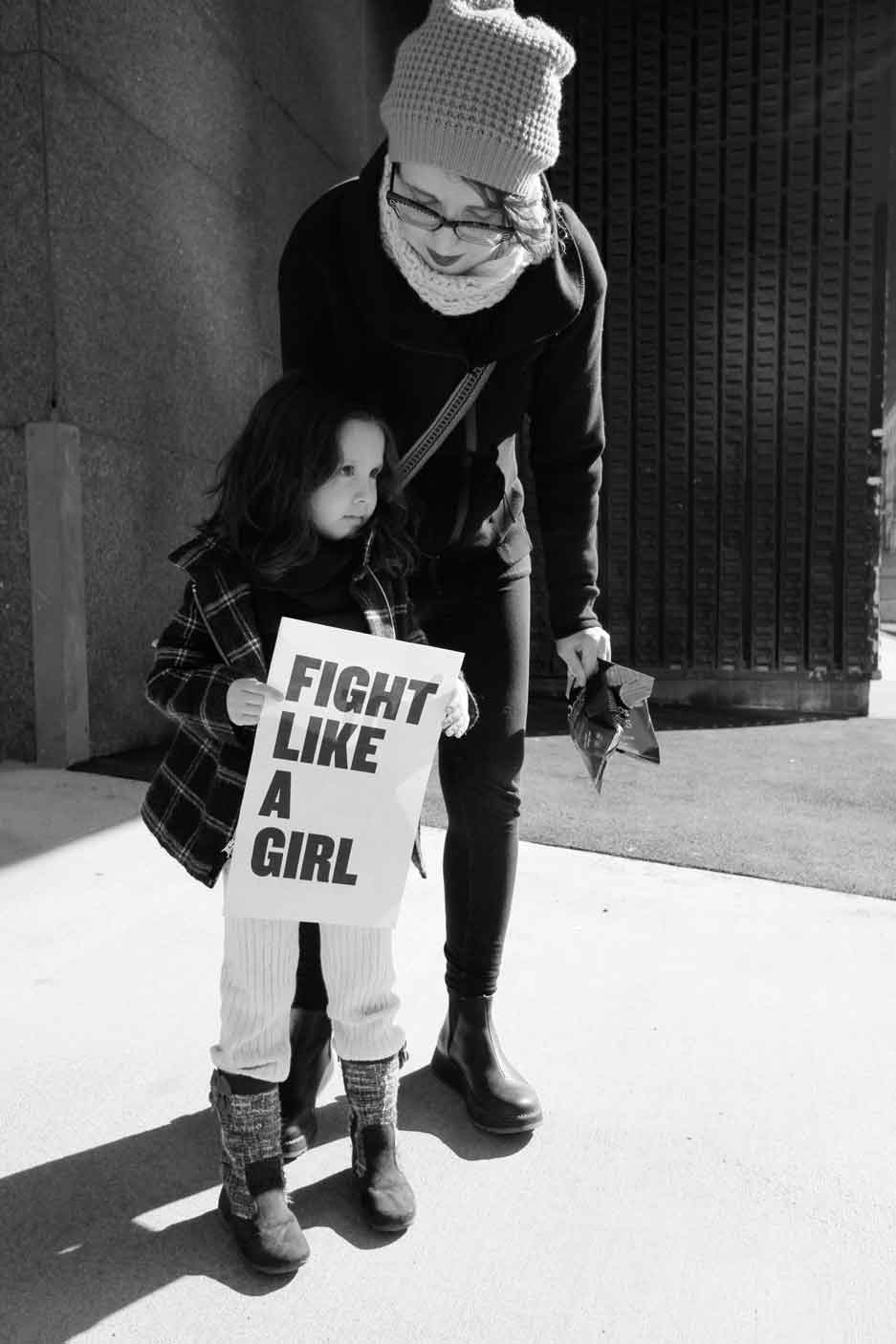 Photo by Rochelle Brown.Fight Like A Girl, United States.