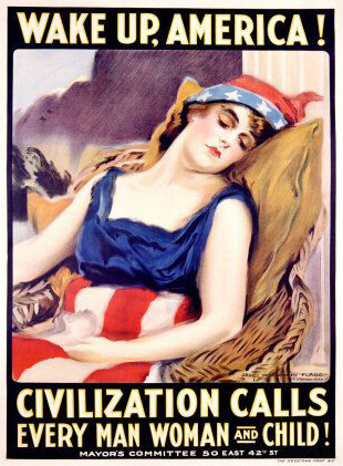 Wake Up, America! Civilization Calls Every Man Woman and Child! Poster by James Montgomery Flagg, 1917.
